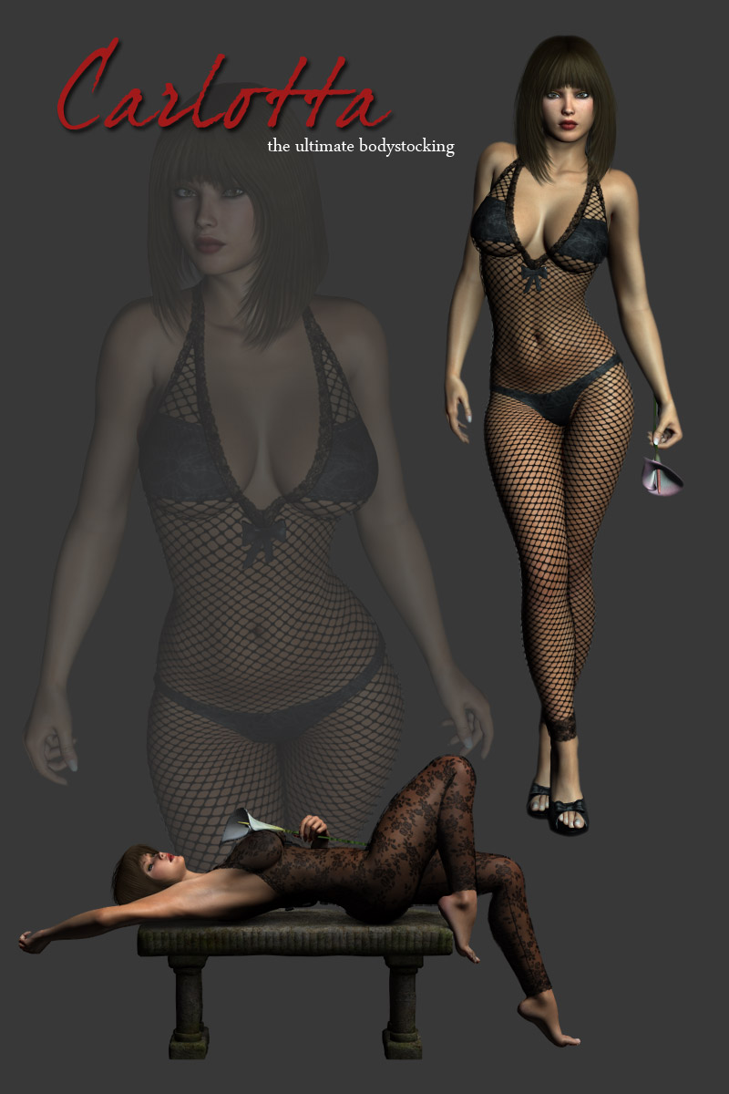 Carlotta Bodystocking Lingerie for V4 - Extended License