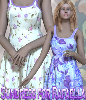 Dynamic Sundress for Rafaella 3D Figure Assets kaleya