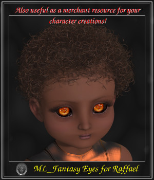 ML Fantasy Eyes for Raffael 3D Figure Assets Merchant Resources Mirella
