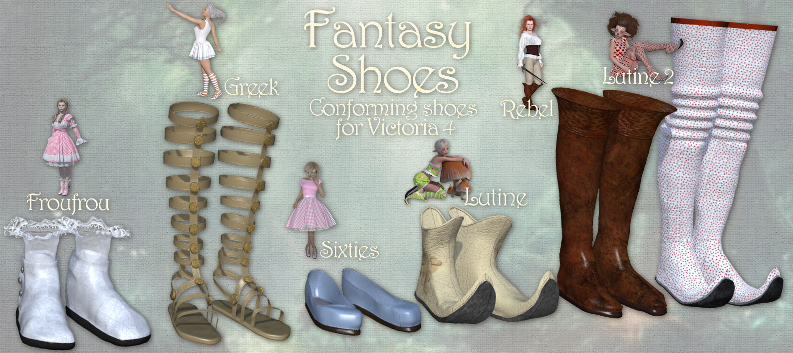 Fantasy Shoes for Victoria 4