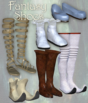 Fantasy Shoes for Victoria 4 3D Figure Assets Tipol