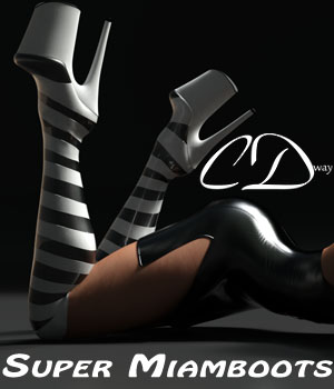 Super Miamboots for g3f 3D Figure Assets curtisdway