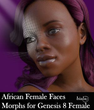African Female Faces Morphs for Genesis 8 Female 3D Figure Assets biala