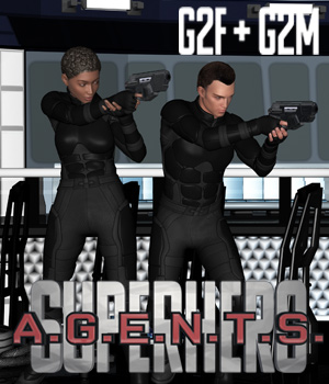 SuperHero Agents for G2F and G2M Volume 1 3D Figure Assets GriffinFX