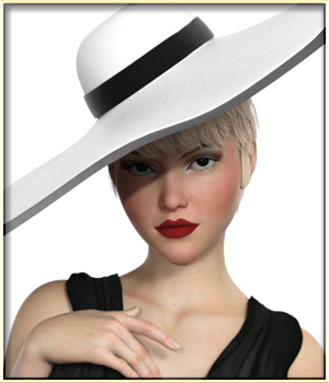 Faxhion - Morphing Wide Brimmed Hat 3D Figure Assets vyktohria