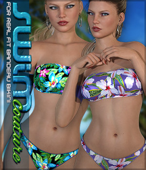 SWIM Couture for Real Fit Bandeau Bikini 3D Figure Assets Sveva