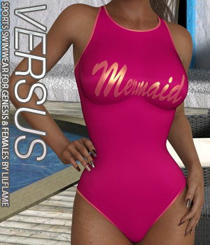 VERSUS - Sports Swimwear for Genesis 8 Females 3D Figure Assets Anagord