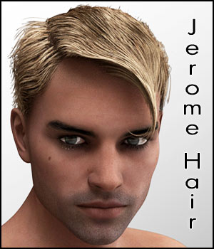 Jerome Hair for Genesis 3 Males 3D Figure Assets RPublishing