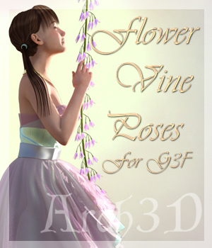 Arah3D Flower Vine Poses for Gen3 Female 3D Figure Assets Arah