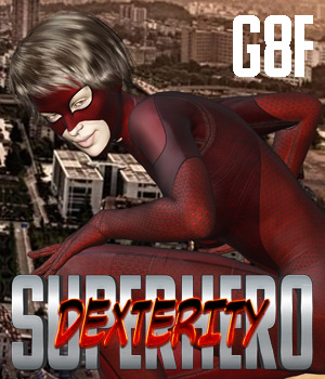 SuperHero Dexterity for G8F Volume 1 3D Figure Assets GriffinFX
