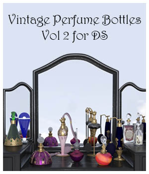 Vintage Perfume Bottles Vol 2 - DS  3D Models 3D_Style