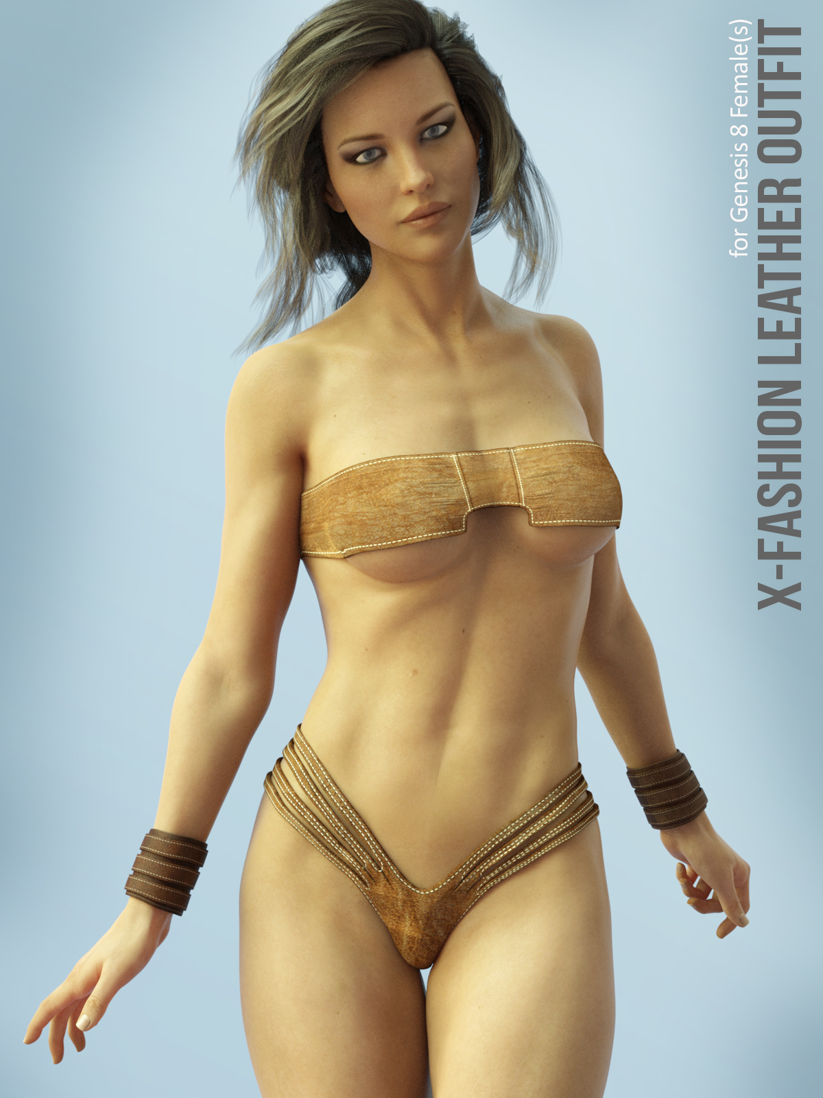 X-Fashion Leather Outfit for Genesis 8 Females