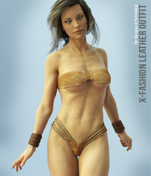 X-Fashion Leather Outfit for Genesis 8 Females 3D Figure Assets xtrart-3d