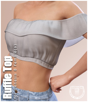 Ruffle Top for Genesis 8 Females 3D Figure Assets outoftouch