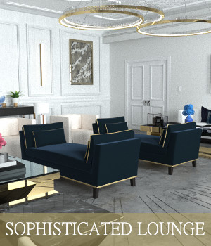 Sophisticated Lounge 3D Models TruForm