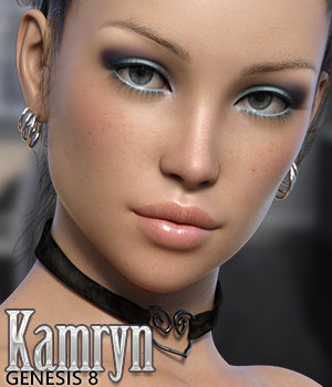 Kamryn for Genesis 8 Female 3D Figure Assets Silver