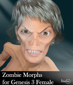 Zombie Morphs for Genesis 3 Female 3D Figure Assets biala