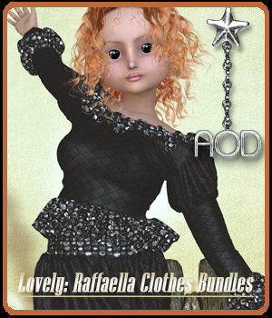 Lovely: Raffaella Clothes Bundle 3D Figure Assets ArtOfDreams