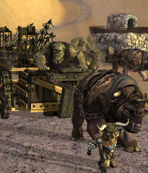 Orkz: Triceratox - Battle Wagon, Chariot and Bolt Thrower 3D Models sixus1