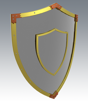 Knight Shield - Extended License 3D Game Models : OBJ : FBX 3D Models Extended Licenses Guilhem_Bedos