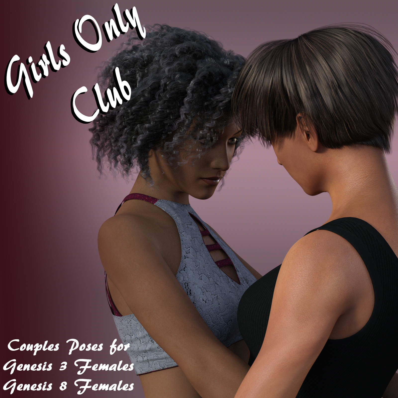 Girls Only Club: Couples Poses for G3F and G8F by aeris19