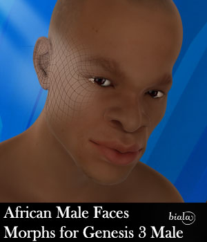 African Male Faces Morphs for Genesis 3 Male 3D Figure Assets biala