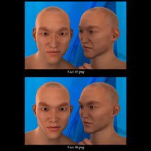 Asian Male Faces Morphs for Genesis 3 Male image 3