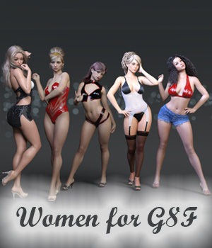 Women for G8F 3D Figure Assets Anain