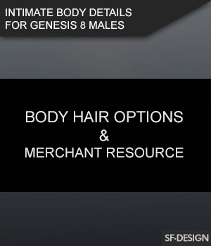 Intimate Body Details for Genesis 8 Males and MR 3D Figure Assets Merchant Resources SF-Design