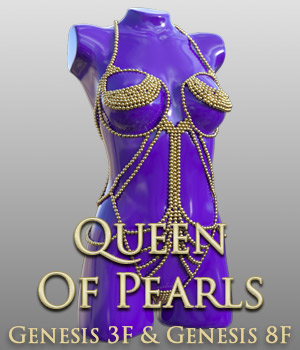 Queen Of Pearls for G3 females and G8 females 3D Figure Assets powerage