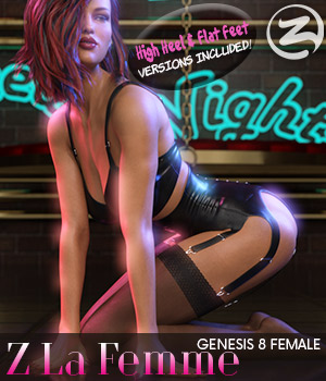 Z La Femme  - Poses for the Genesis 8 Females 3D Figure Assets Zeddicuss
