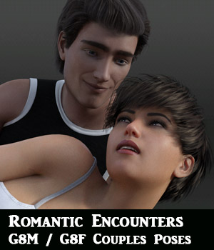 Romantic Encounters for Genesis 8 Male and Genesis 8 Female 3D Figure Assets aeris19