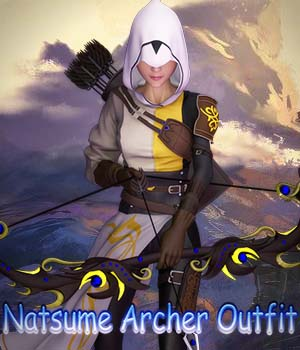 Natsume Archer Outfit for G3F 3D Figure Assets 3D Models RPublishing