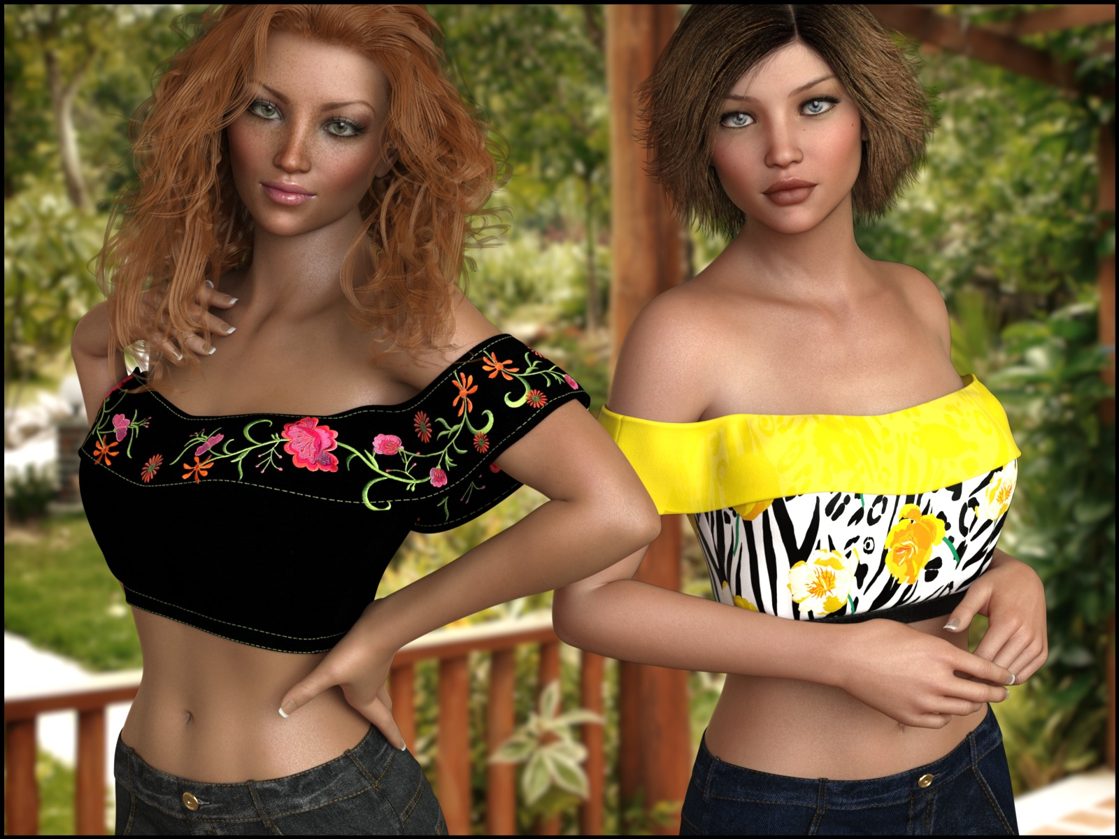7th Ave: Ruffle Top for Genesis 8 Females