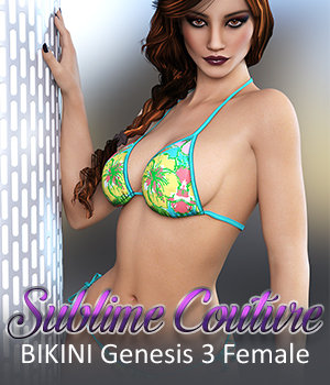 Sublime Couture: BIKINI for Genesis 3 Female(s) 3D Figure Assets 3DSublimeProductions