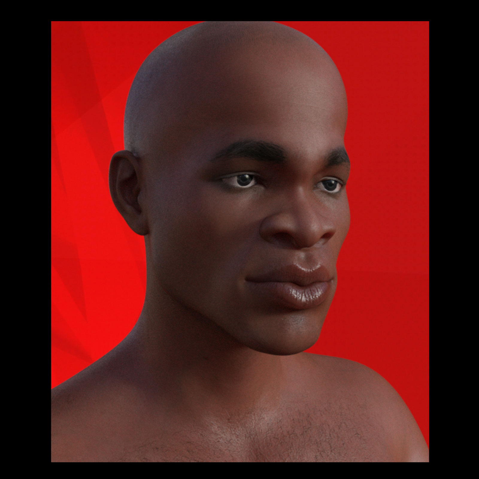 African Male Faces Morphs for Genesis 8 Male 3D Figure