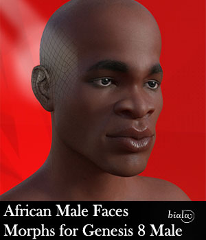 African Male Faces Morphs for Genesis 8 Male 3D Figure Assets biala