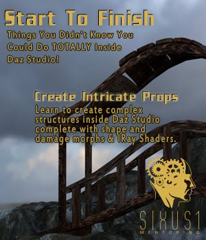 Sixus1 Mentoring Week 07: Start To Finish In Daz Studio Tutorials : Learn 3D Disciple3d
