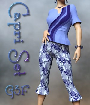 Capri Clothing Set for G3F/V7 3D Figure Assets chasmata