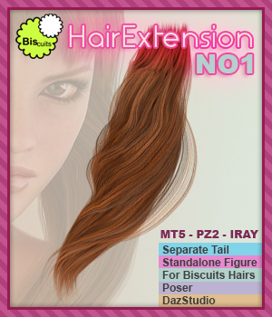 Biscuits HairExtension NO1 3D Figure Assets Biscuits