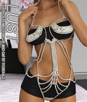 LUST - Queen Of Pearls for G3 females and G8 females 3D Figure Assets Anagord