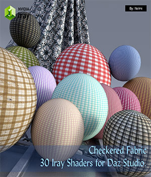 Checkered Fabric - 30 Iray Shaders for Daz Studio  3D Figure Assets nelmi