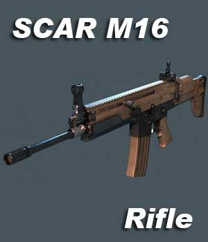 SCAR Rifle - Extended License 3D Game Models : OBJ : FBX 3D Models Extended Licenses KRBY