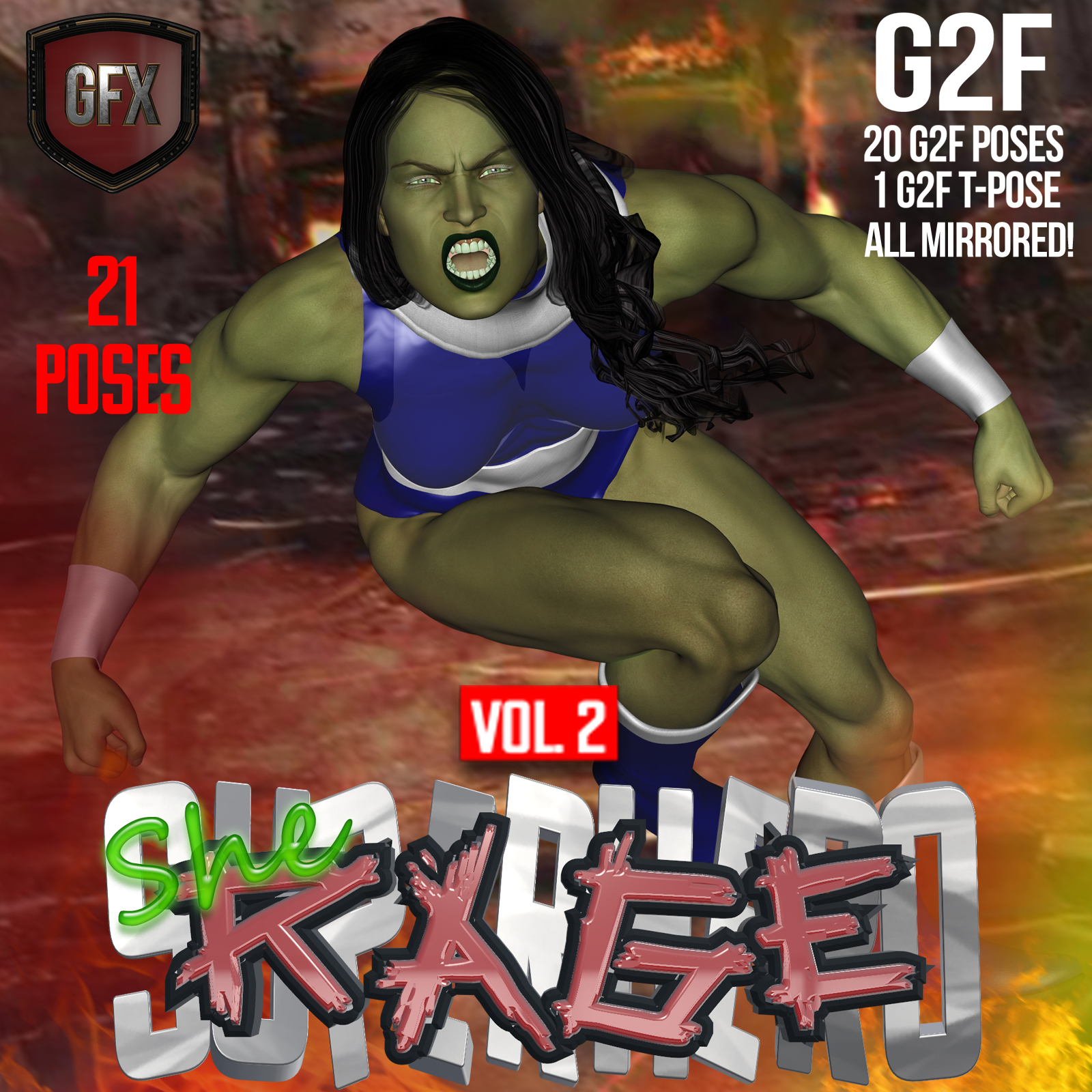 SuperHero She-Rage for G2F Volume 2 by GriffinFX