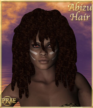 Prae-Abizu Hair For V4 Poser 3D Figure Assets prae