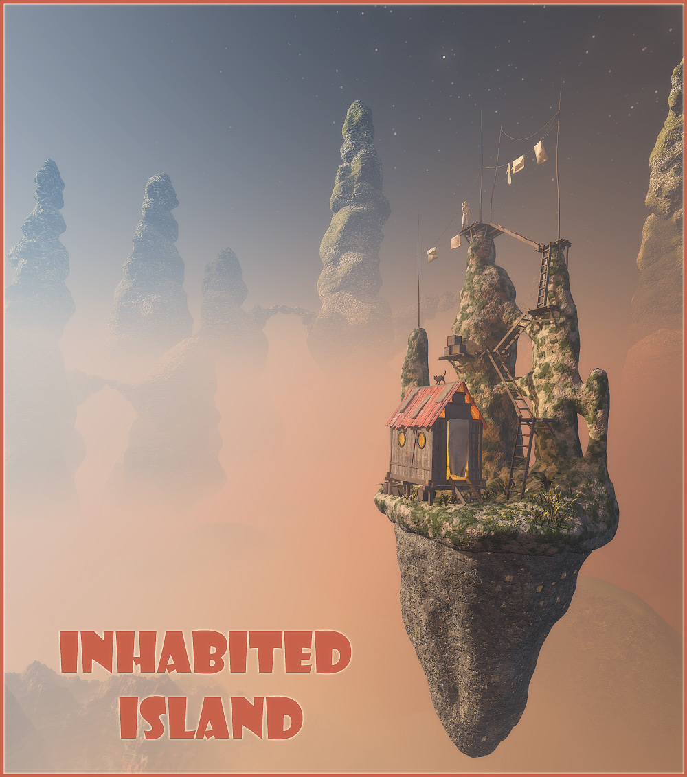 Inhabited island