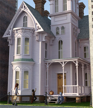 Haunted and New Victorians for DAZ Studio 3D Models London224