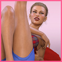 Z Pinup Madness - Poses and Expressions for the Genesis 8 Females image 6