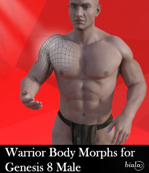 Warrior Body Morphs for Genesis 8 Male 3D Figure Assets biala