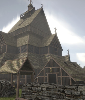 Viking Church - Extended License 3D Game Models : OBJ : FBX 3D Models Extended Licenses dexsoft-games